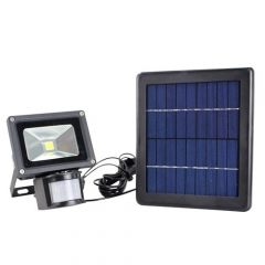 Hooree SL-310E 3W LED Solar Flood Light + Motion Sensor + Constant Light + Light Control